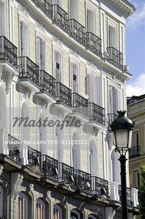 Balconies, Puerta del Sol, Madrid Spain