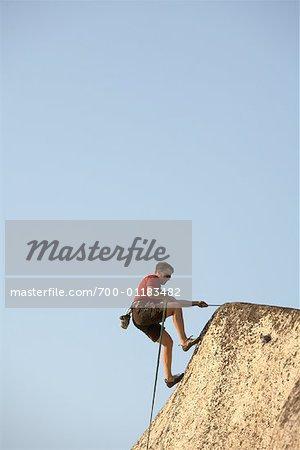 Man Rock Climbing, Squamish, British Columbia, Canada