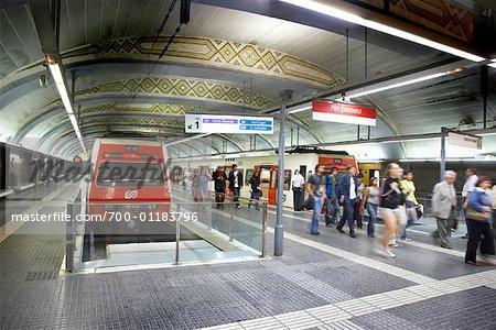 Metro Station, Barcelona, Spain