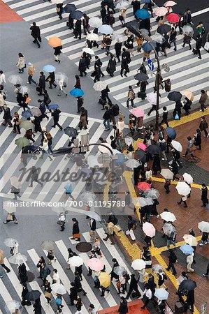Aerial View of Shibuya Crossing, Tokyo, Japan
