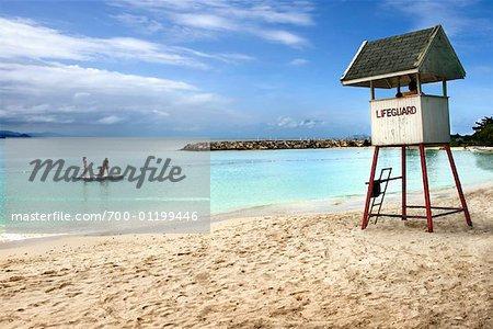 Walter Fletcher Beach Montego Bay Jamaica Stock Photo