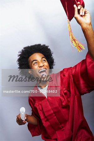 Graduate Throwing Mortarboard