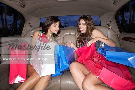 Women in Limousine