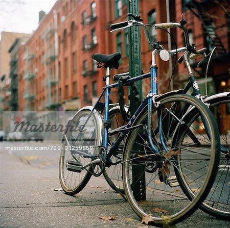 Bicycles on Sidewalk
