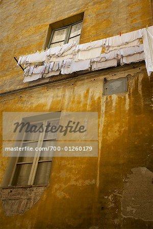 Clothesline, Siena, Tuscany, Italy