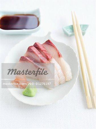 Hamachi Sashimi Dish