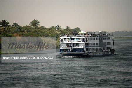Cruise Ship on the Nile River, Kom Ombo, Egypt
