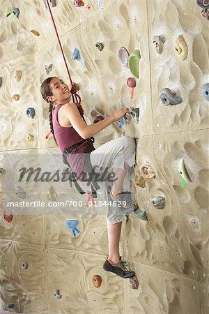 Girl in Climbing Gym