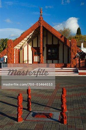 Meeting House, Ohinemutu, Rotorua, New Zealand