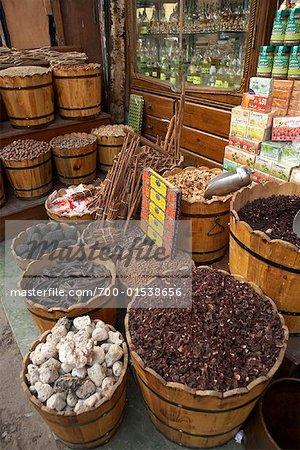 Spices, Khan Al-Khalili Bazaar, Cairo, Egypt