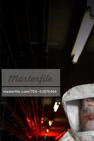 Man in Hazmat Suit