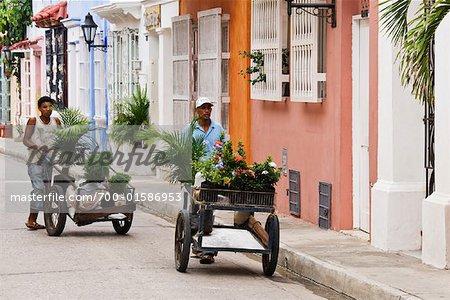 Men Selling Flowers, Cartagena, Columbia