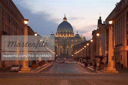 Via della Conciliazione and Saint Peter's Basilica, Rome, Italy