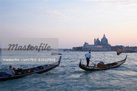 Gondolas on Canale di San Marco, Venice, Italy