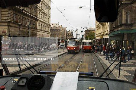Street Scene in Prague, Czech Republic