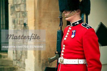 Portrait of Queen's Guard, Windsor Castle, England