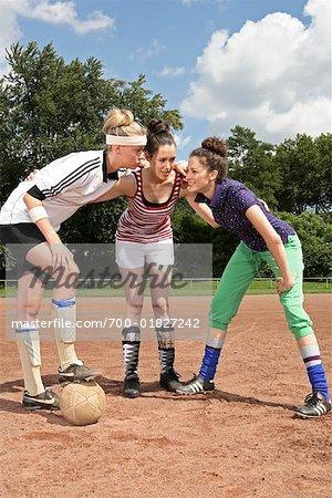Soccer Players Huddling, Gelsenkirchen, Germany