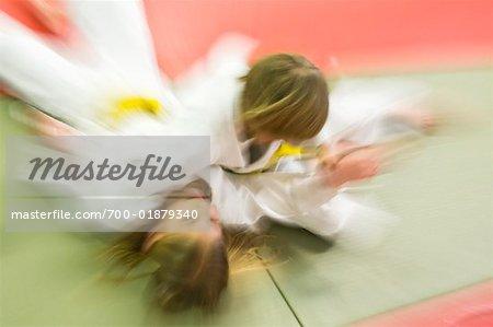 Kids Practicing Judo