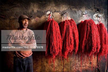 Dyers Souk, Medina of Marrakech, Morocco