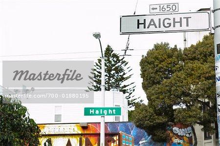 Haight Street Signs, San Francisco, California, USA