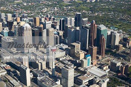 Aerial of Calgary, Alberta, Canada