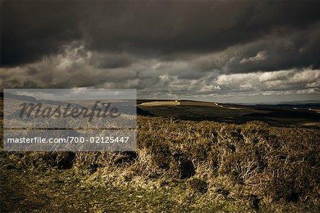 Storm Clouds Over Haytor, Dartmoor, Devon, England