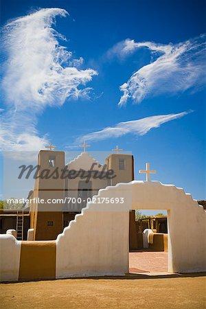 Church of Taos Pueblo, Taos, New Mexico, USA