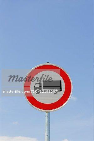 No Trucks Sign, Germany