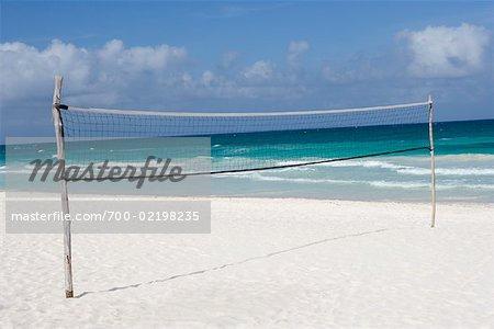 Volleyball Net on Beach, Tulum, Mexico