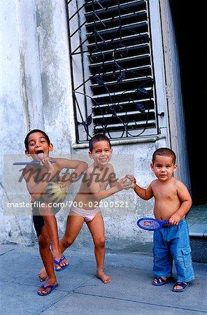 Kids Playing in the Street, Havana, Cuba