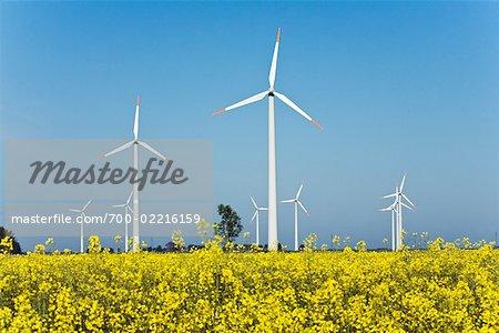 Wind Turbines in Heide, Schleswig-Holstein, Germany