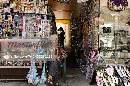 Street Vendor in the Fashion District, Los Angeles, California, USA