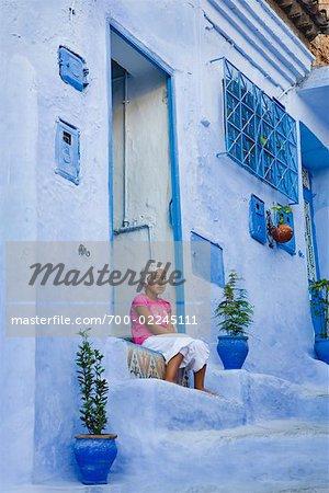 Child in Doorway, Chefchaouen, Morocco