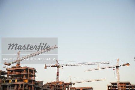 Construction at Olympic Village, False Creek, Vancouver, British Columbia, Canada