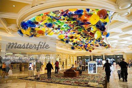 Lobby of Bellagio Hotel, Las Vegas, Nevada, USA