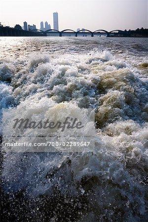 White Water on Han River, Seoul, South Korea