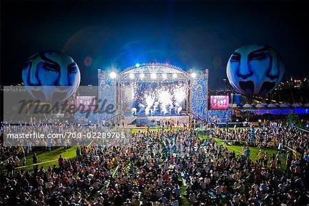 Crowd at Summer Festival, Seoul, South Korea