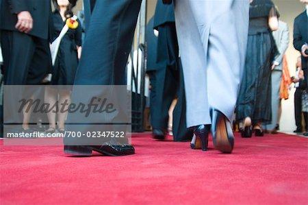 People Walking on Red Carpet, Salzburg, Salzburger Land, Austria