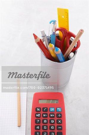 Still Life of School Supplies