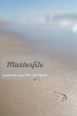 Footprints on the Sand, Moshup Beach, Aquinnah, Martha's Vineyard, Massachusetts, USA