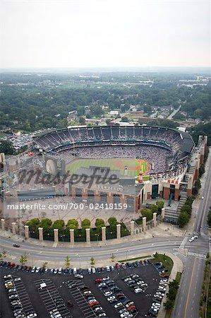 Aerial View of Turner Field, Atlanta, Georgia, USA