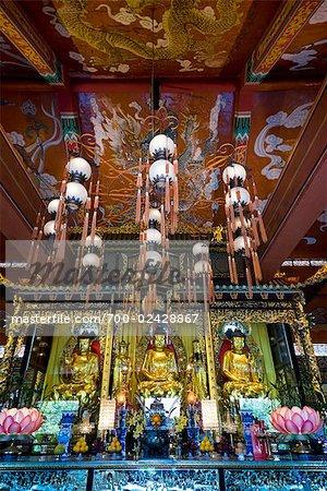 Shrine at Po Lin Monastery, Ngong Ping, Lantau Island, Hong Kong, China