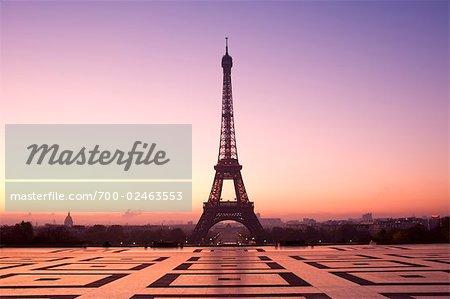 Eiffel Tower at Dawn, Paris, France