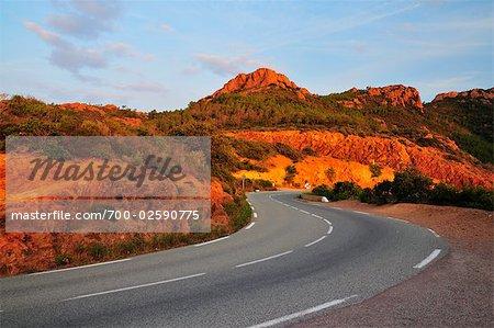 Road Near Antheor, Cote d'Azur, France