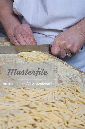 Woman Making Homemade Pasta, Cerreto Laziale, Tivoli, Rome, Italy