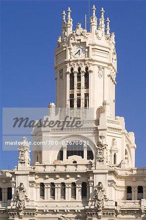 Communications Palace, Plaza de Cibeles, Madrid, Square