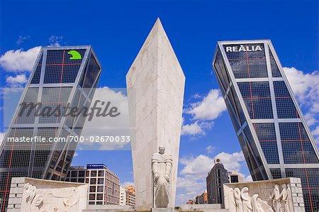 Monumento a Calvo Sotelo and Puerta de Europa, Madrid, Spain