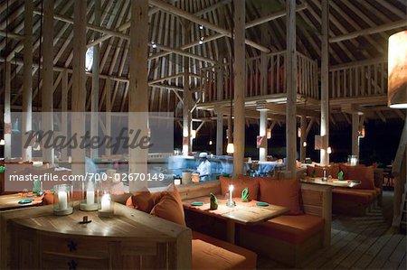 Interior of Restaurant, North Male Atoll, Maldives