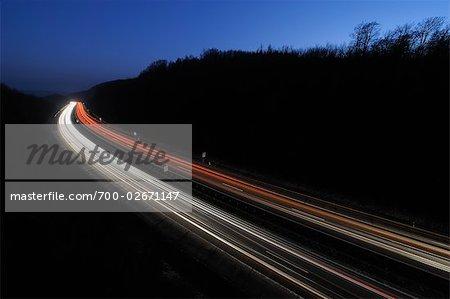 Streaking Lights on A3, Bavaria, Germany