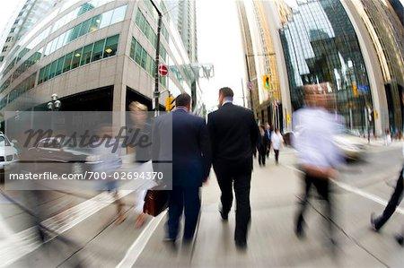 Businessmen, Bay Street, Toronto, Ontario, Canada